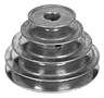 4 Step, Zinc Die Cast Step-Cone Pulley